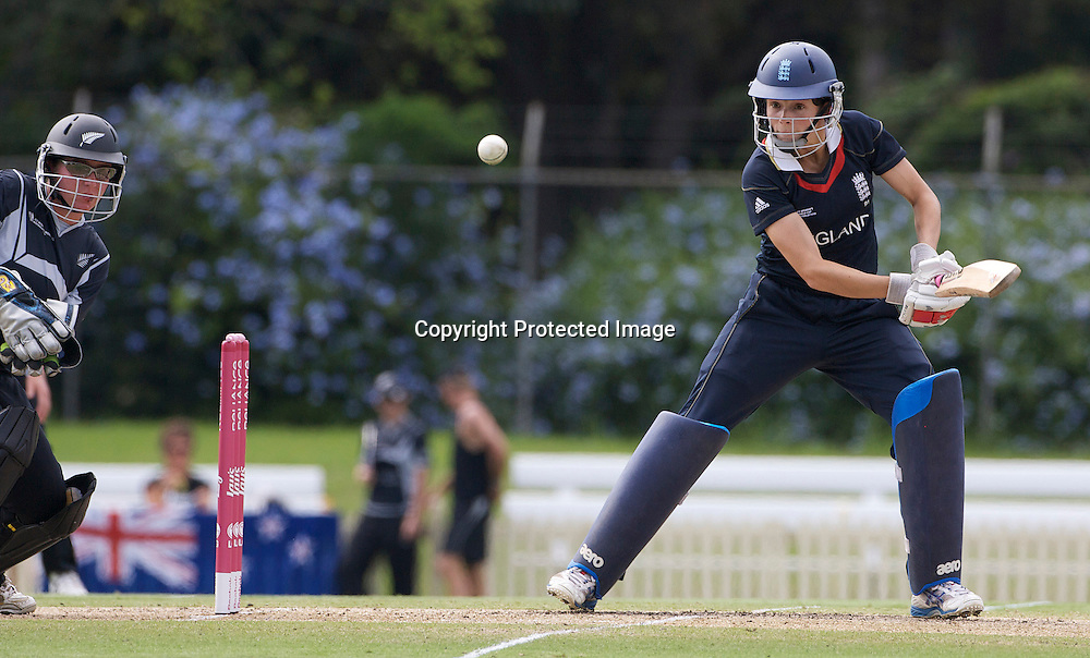 Sydney-March 14:  Caroline Atkins batting during the match between England and New Zealand in the Super 6 stage of the ICC Women's World Cup Cricket match at Bankstown Oval, Sydney, Australia on March 14 2009, England made 201 for 5 in their 50 overs.. Photo by Tim Clayton.