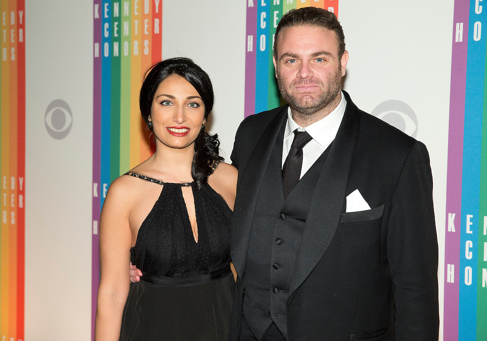 Tenor Joseph Calleja and Maria Meli arrive for the Kennedy Center Honors in Washington on December 8, 2013.      REUTERS/Joshua Roberts    (UNITED STATES)