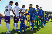 Mascotduring the EFL Sky Bet League 1 match between AFC Wimbledon and Shrewsbury Town at the Cherry Red Records Stadium, Kingston, England on 14 September 2019.