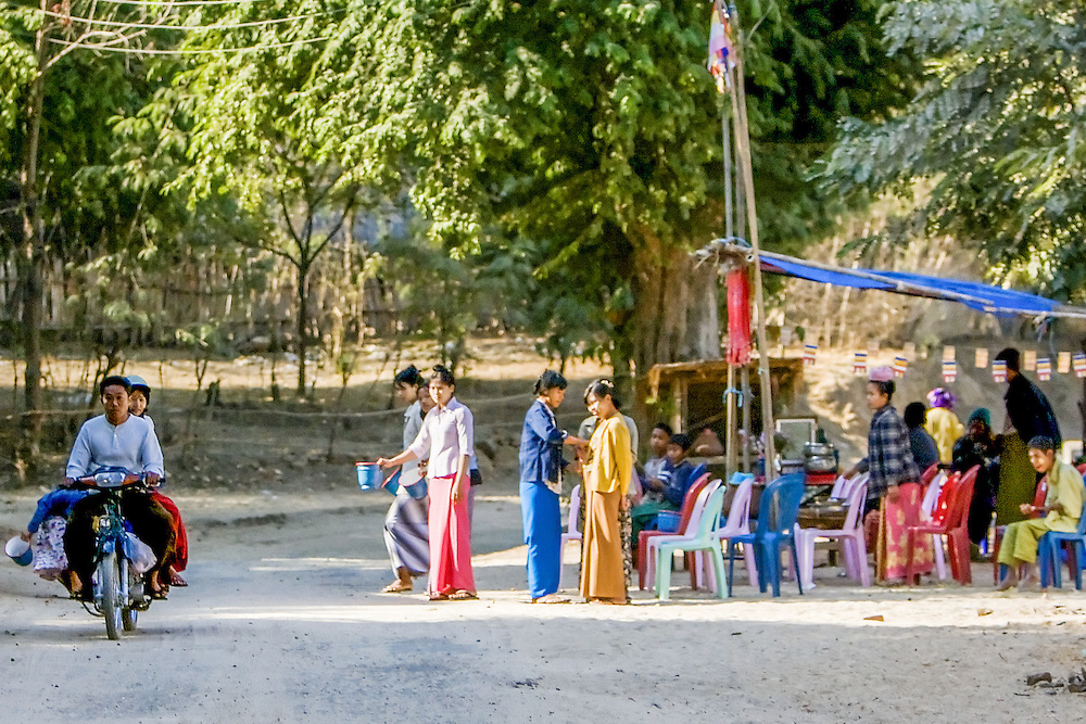 Chauk and road to Bagan, Myanmar.