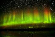 Northern lights or aurora borealis at Klotz Lake<br /> Longlac<br /> Ontario<br /> Canada
