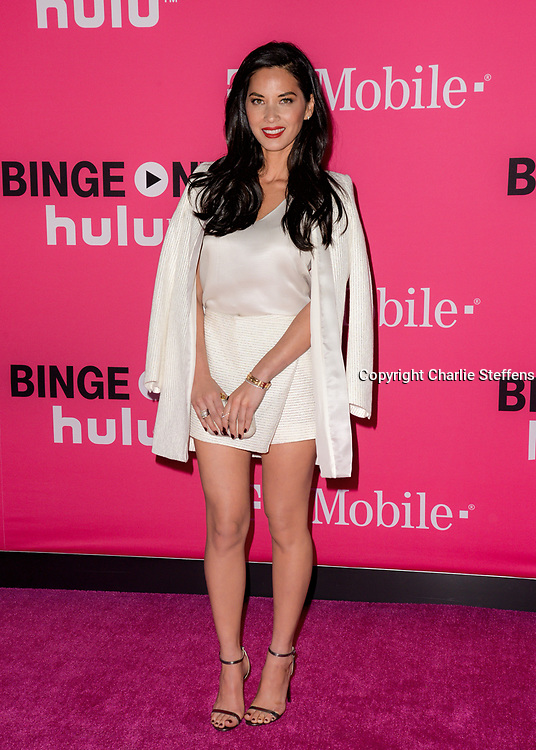 Olivia Munn attends the T-Mobile Un-carrier X Launch at The Shrine Auditorium on November 10, 2015 in Los Angeles, California