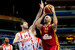 Tornike Shengelia of Georgia vs Pero Antic of Macedonia during basketball game between National basketball teams of  Georgia and Former Yugoslav Republic of Macedonia at FIBA Europe Eurobasket Lithuania 2011, on September 8, 2011, in Siemens Arena,  Vilnius, Lithuania. (Photo by Vid Ponikvar / Sportida)