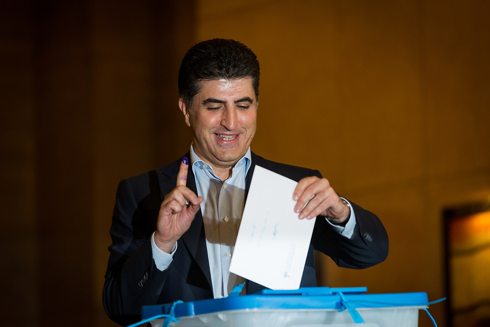 Prime Minister Nechirvan Bargain cast his vote this morning in the historic referendum on Kurdistan independence.