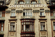 Prague, Czech Republic. Grand Hotel Europa. In Wenceslas Square.