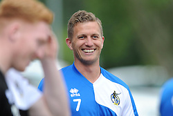 Bristol Rovers' Lee Mansell smiles during pre-season training - Photo mandatory by-line: Dougie Allward/JMP - Mobile: 07966 386802 - 02/07/2015 - SPORT - Football - Bristol - Friends Life Training Ground - Bristol Rovers Pre-Season Training
