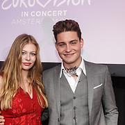 NLD/Amsterdam/20160409 - Eurovision in Concert 2016, Douwe Bob met Zoë Straub - Oostenrijk / Austria