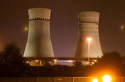 Tinsley Cooling Towers, a Sheffield industrial landmark at Junction 34 of the M1 for 70 years waiting their last few hours before demolition on August 24th 2008<br /> <br /> 24 August 2008 © Paul David Drabble