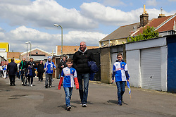 Bristol Rovers fans arrive at the ground before the match - Photo mandatory by-line: Rogan Thomson/JMP - 07966 386802 - 19/04/2014 - SPORT - FOOTBALL - Fratton Park, Portsmouth - Portsmouth FC v Bristol Rovers - Sky Bet Football League 2.