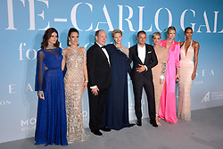 Isabeli Fontana, Alessandra Ambrosio, Prince Albert II of Monaco, Princess Charlene of Monaco, Orlando Bloom, Katy Perry, Toni Garrn and Lais Ribeiro attend the Gala for the Global Ocean hosted by H.S.H. Prince Albert II of Monaco at Opera of Monte-Carlo in Monte-Carlo, Monaco on September 26, 2018. Photo by Aurore Marechal/ABACAPRESS.COM