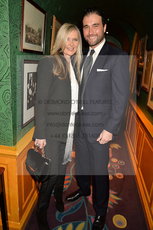 AMANDA WAKELEY and DAVID PEACOCK at the launch of GP Nutrition held at Annabel's, 44 Berkeley Square, London on 26th January 2016.