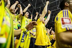 RK Celje Pivovarna Lasko fans during handball match between RK Celje Pivovarna Lasko (SLO) and IFK Kristianstad (SWE) in Group phase of EHF Men's Champions League 2016/17, on February 11, 2017 in Arena Zlatorog, Celje, Slovenia. Photo by Grega Valancic