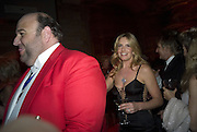 THE TOASTMASTER AND PENNY LANCASTER, Cartier Dinner to celebrate the re-opening of the Cartier U.K. flagship store, New Bond St. Natural History Museum. 17 October 2007. -DO NOT ARCHIVE-© Copyright Photograph by Dafydd Jones. 248 Clapham Rd. London SW9 0PZ. Tel 0207 820 0771. www.dafjones.com.