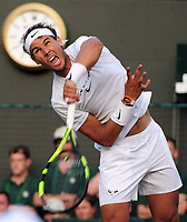 Tennis - 2017 Wimbledon Championships - Week Two, Monday [Day Seven]<br /> <br /> Men's Singles, Fourth Round<br /> <br /> Rafael Nadal (SPA) vs. Gilles Muller (LUX)<br /> <br /> Rafael Nadal on Court 1<br /> <br /> COLORSPORT/ANDREW COWIE