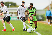 Forest Green Rovers Keanu Marsh-Brown (7) runs with the ball during the Vanarama National League match between Forest Green Rovers and Bromley FC at the New Lawn, Forest Green, United Kingdom on 17 September 2016. Photo by Shane Healey.