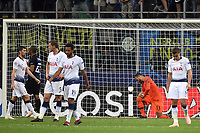 Dejection Tottenham players aftter goal of Matias Vecino Inter 2-1 <br /> Milano 18-09-2018 Stadio Giuseppe Meazza Football Calcio Uefa Champions League 2018/2019 Group B  FC Internazionale Milano - Tottenham Hotspur <br /> Foto Andrea Staccioli / Insidefoto