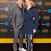 NLD/Amsterdam/20151215 - première van STAR WARS: The Force Awakens!, Micha Hulshof en partner