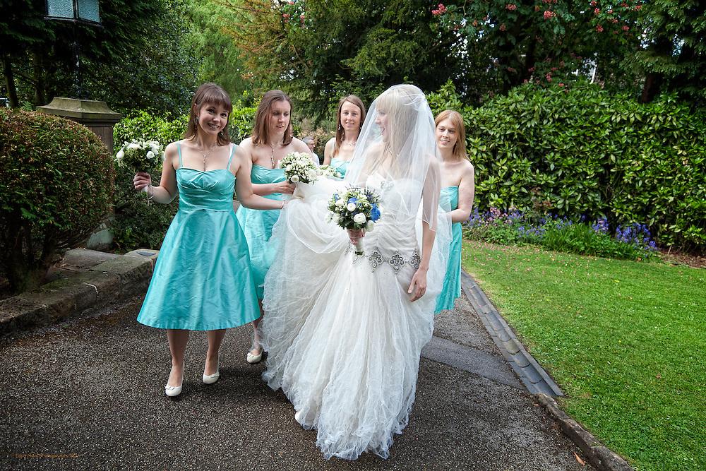Photographs of Hannah & Matt's Wedding Day in Matlock  and Alison House, Cromford