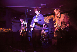 © Licensed to London News Pictures. 15/02/2016. British indie pop group Viola Beach playing at Notting Hill Arts Club on 10th Jan 2016. All four group members and the bands manager were killed when the car they were in crashed in to a canal while the band was touring Sweden.  Photo credit: Colin Hart/LNP