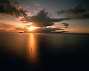 Lanai at sunset, Maui, Hawaii, USA<br />
