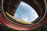 General view of Wembley Stadium before the Johnstone's Paint Trophy Final between Barnsley and Oxford United at Wembley Stadium, London, England on 3 April 2016. Photo by Mark P Doherty.