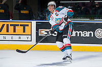 KELOWNA, CANADA - JANUARY 22: Madison Bowey #4 of the Kelowna Rockets makes a pass against the Everett Silvertips on January 22, 2014 at Prospera Place in Kelowna, British Columbia, Canada.   (Photo by Marissa Baecker/Getty Images)  *** Local Caption *** Madison Bowey;