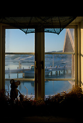 SWEDEN FJALLBACKA JAN04 - Detail of a pub window overlooking Fjallbacka harbour.. . jre/Photo by Jiri Rezac. . © Jiri Rezac 2004. . Contact: +44 (0) 7050 110 417. Mobile:  +44 (0) 7801 337 683. Office:  +44 (0) 20 8968 9635. . Email:   jiri@jirirezac.com. Web:    www.jirirezac.com.