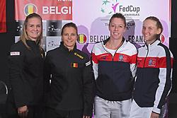February 8, 2019 - Liege, France - Ysaline BONAVENTURE, Kirsten FLIPKENS, Pauline PARMENTIER, Fiona FERRO (Credit Image: © Panoramic via ZUMA Press)