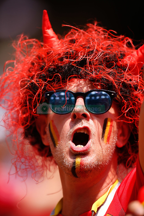 June 23, 2018 - Moscou, Rússia - MOSCOU, MO - 23.06.2018: BÉLGICA Y TÚNEZ - Twisted before match between Belgium and Tunisia valid for the second round of Group G of the 2018 World Cup held at the Otkrytie Arena in Moscow, Russia. (Credit Image: © Marcelo Machado De Melo/Fotoarena via ZUMA Press)