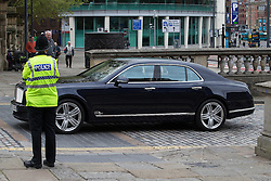 © Licensed to London News Pictures . 14/05/2015 . Liverpool , UK . The Prince or Wales and the Duchess of Cornwall arrive at the World Museum in Liverpool . Photo credit : Joel Goodman/LNP