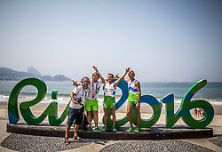Marko Pangerc,  Primoz Cernilec, Sandi Novak and Roman Kejzar of Slovenia celebrate after the Men's Marathon - T12 Final during Day 11 of the Rio 2016 Summer Paralympics Games on September 18, 2016 in Copacabana beach, Rio de Janeiro, Brazil. Photo by Vid Ponikvar / Sportida