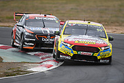 20th May 2018, Winton Motor Raceway, Victoria, Australia; Winton Supercars Supersprint Motor Racing; Chaz Mostert drives the number 55 Tickford Racing Ford Falcon FG X during race 14 of the 2018 Supercars Championship