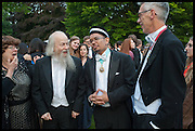 PETA FOWLER; MICHAEL GOLDSMITH; AFIFI AL-AKILI; PROVOST PROF JONATHAN BATE, The Tercentenary Ball, Worcester College. Oxford. 27 June 2014