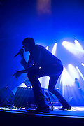 23/07/2016 Repro free:<br /> Brett Anderson of Suede who played the BIGTOP at the Galway International Arts Festival 2016 with the first half of the show being played behind a projection screen with the band appearing occasionally through it. Photo:Andrew Downes, xposure