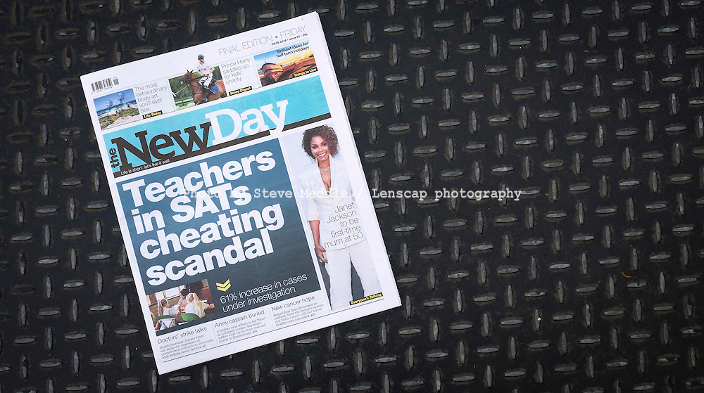 Final edition of The New Day newspaper, last edition after just nine weeks.