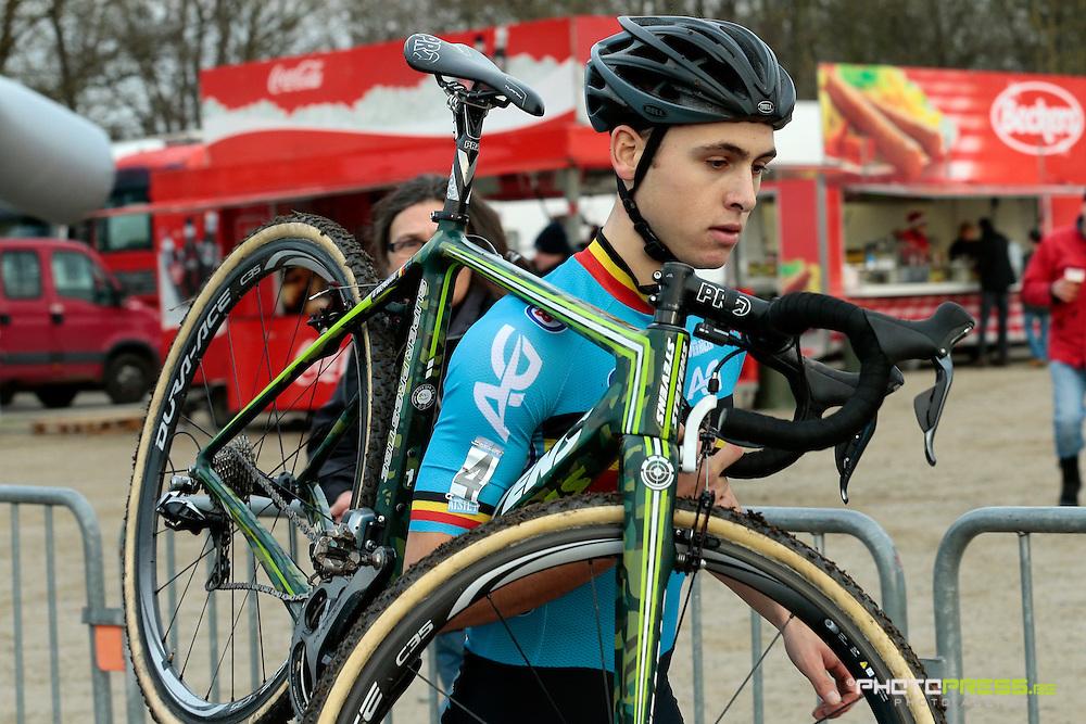 BELGIUM / NAMEN / NAMUR / CYCLING / WIELRENNEN / CYCLISME / CYCLOCROSS / CYCLO-CROSS / VELDRIJDEN / WERELDBEKER / WORLD CUP / COUPE DU MONDE / U23 / DAAN HOEYBERGHS (BEL) – BKCP-CORENDON /