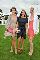 Left to right, FUSCHIA KATE SUMNER, AMANDA CROSSLEY and CHLOE DELEVINGNE at the 25th annual Cartier International Polo held at Guards Polo Club, Great Windsor Park, Berkshire on 26th July 2009.