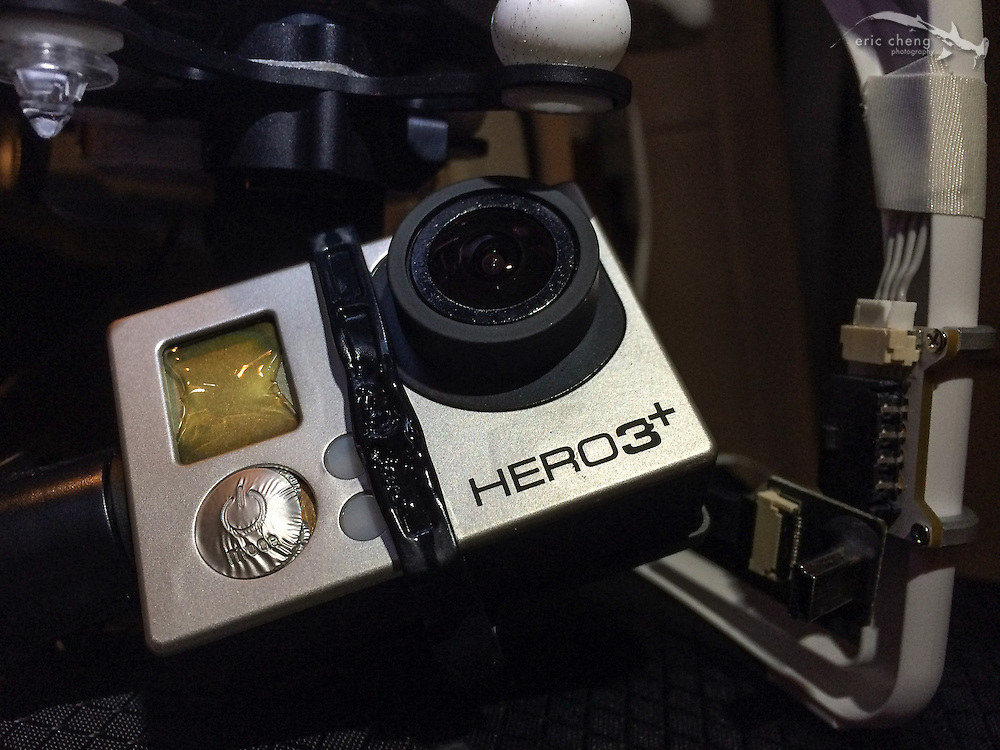 "The front of Eric's GoPro melted when exposed to the extreme head of the volcanic eruption. The GoPro stopped working, mid-flight, and Eric relied on an autonomous feature called ""Return to Home"" to retrieve his Phantom 2."