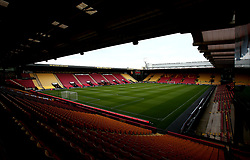 A general view of Vicarage Road, Home of Watford - Mandatory by-line: Robbie Stephenson/JMP - 22/08/2017 - FOOTBALL - Vicarage Road - Watford, England - Watford v Bristol City - Carabao Cup