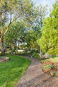 The Gage Hotel Gardens have native plantings, walking paths, and water features.
