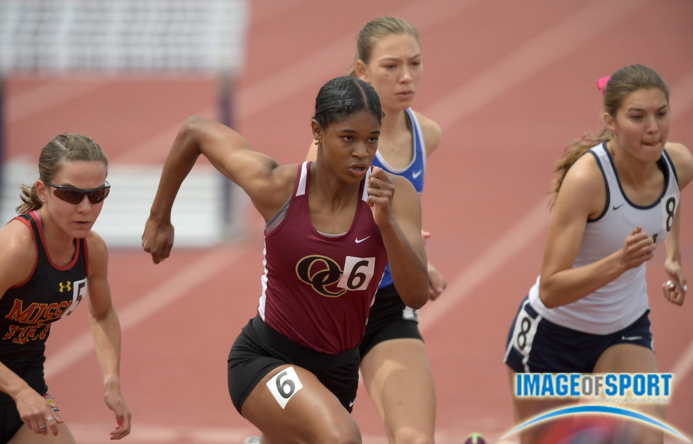 Janiah Brown of Oaks Christian places fifth in the girls 800m in 2:12.01 during the 2019 CIF Southern Section Masters Meet in Torrance, Calif., Saturday, May 18, 2019.