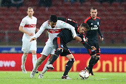 30.12.2015, Mercedes Benz Arena, Stuttgart, GER, 1. FBL, VfB Stuttgart vs Hamburger SV, 19. Runde, im Bild Daniel Didavi (VfB Stuttgart) Nicolai Mueller (Hamburger SV) // during the German Bundesliga 19th round match between VfB Stuttgart and Hamburger SV at the Mercedes Benz Arena in Stuttgart, Germany on 2015/12/30. EXPA Pictures © 2016, PhotoCredit: EXPA/ Eibner-Pressefoto/ Langer<br /> <br /> *****ATTENTION - OUT of GER*****