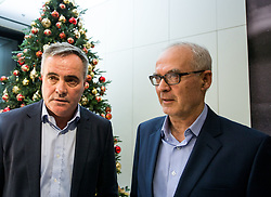 Tomaz Kavcic and Zdenko Verdenik during Traditional New Year party of of the Slovenian Football Association - NZS, on December 18, 2017 in Kongresni center, Brdo pri Kranju, Slovenia. Photo by Vid Ponikvar / Sportida