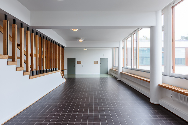 Helsinki University of Technology Department of architecture designed by Alvar Aalto in Espoo, Finland. Restoration designed by NRT architects.