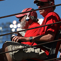 San Francisco 49ers fans during an NFL football game between the Dallas Cowboys and the San Francisco 49ers at Candlestick Park on Sunday, Sept. 18, 2011 in San Francisco, CA.  (Photo/Alex Menendez)