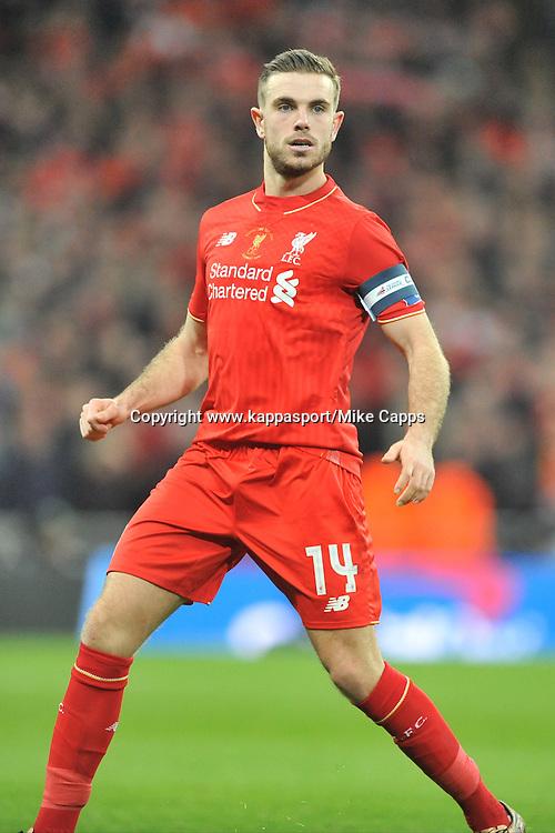 JORDAN HENDERSON LIVERPOOL, Liverpool FC v Manchester City FC Capital One Cup Final, Wembley Stadium, Sunday 28th Febuary 2016