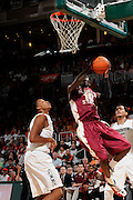 January 27, 2013: Okaro White #10 of Florida State in action during the NCAA basketball game between the Miami Hurricanes and Florida State Seminoles at the BankUnited Center in Coral Gables, FL. The Hurricanes defeated the Seminoles 71-47.