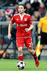 21.04.2010, Allianz Arena, Muenchen, GER, Champions League, Bayern Muenchen vs Olympique Lyonnais, Halbfinale Hinspiel, im Bild Danijel Pranjic (FC Bayern Nr.23)  , EXPA Pictures © 2010, PhotoCredit: EXPA/ nph/  Straubmeier / SPORTIDA PHOTO AGENCY