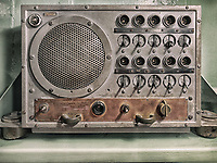 Intercom panel on a World War 2 U.S. battleship
