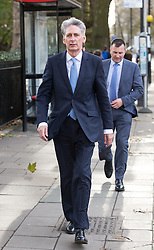 © Licensed to London News Pictures. 16/11/2016. London, UK. Chancellor of the Exchequer Philip Hammond walks along Millbank this morning to go to Prime Minister's Questions in Parliament. Photo credit : Tom Nicholson/LNP